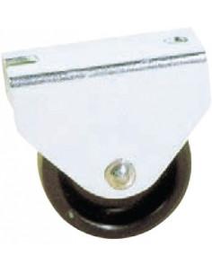 NORAIL Roulette à platine nylon fixe d25mm