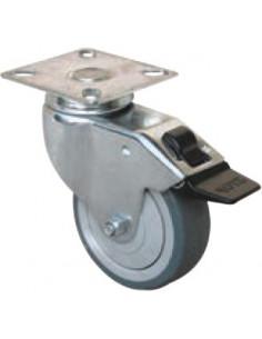 NORAIL Roulette collectivités à platine nylon d50mm