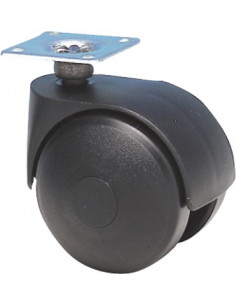 NORAIL Roulette jumelée à platine avec frein d50mm