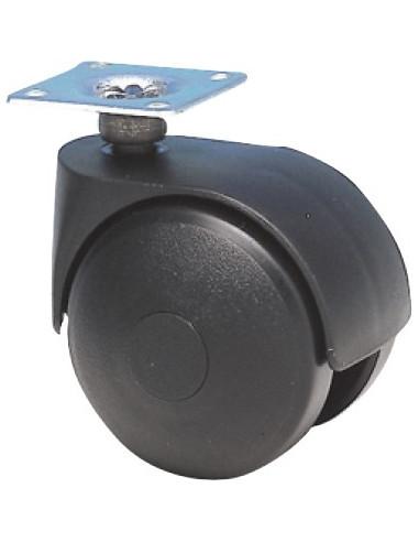 norail roulette jumel e platine avec frein d50mm hyper brico. Black Bedroom Furniture Sets. Home Design Ideas