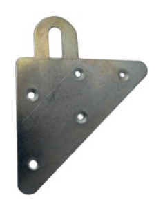 NORAIL Attache pour porte-manteau triangle réversible 75x75x1.5mm