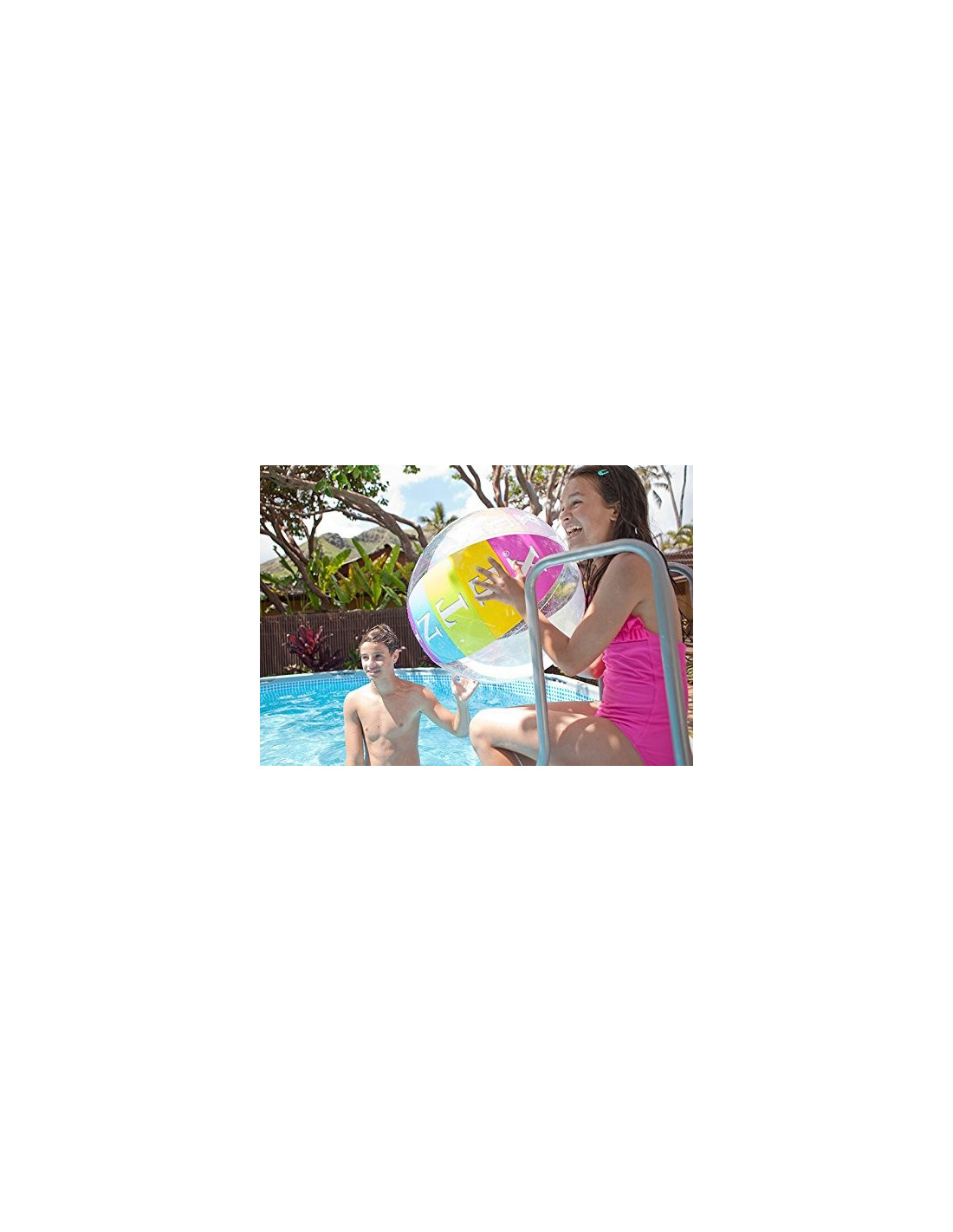 Intex echelle de securite 91 x 107 cm hyper brico for Echelle piscine intex