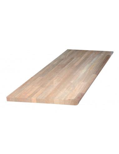 Plan de travail bois exotique 240x60xep2.6cm