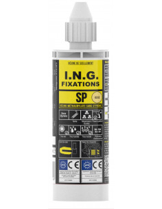 I.N.G. FIXATIONS Kit résine SP Beige 170ml + 4 tiges d10x160 mm