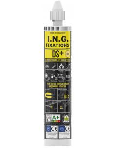 I.N.G. FIXATIONS Kit résine DS+ Beige 3000ml + 4tiges d10x160 mm