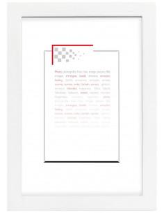 Cadre focus blanc 10x15cm