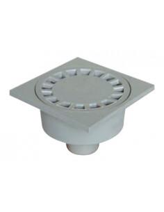 INTERPLAST Siphon de cour sortie extérieure PVC 100x100 d50 gris