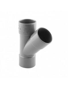 INTERPLAST Culotte PVC 45° femelle / femelle NFMe