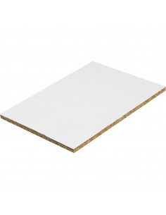 Panneau Mélaminé blanc à la découpe, vendu au m²
