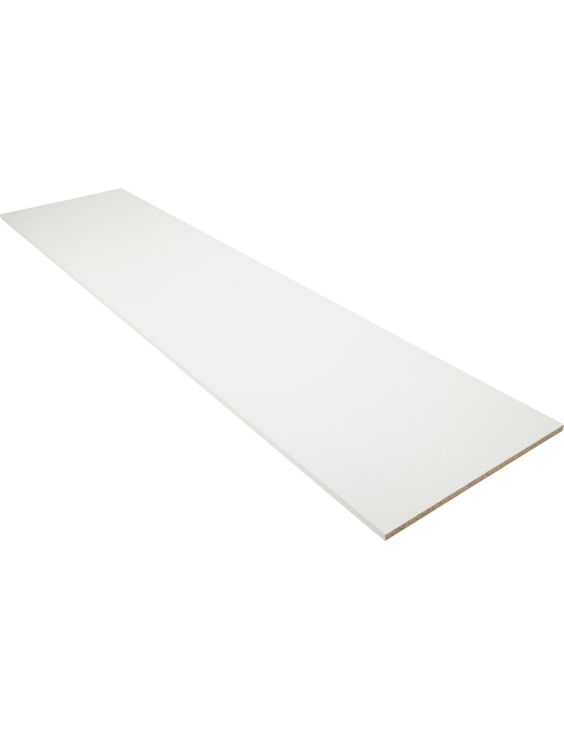 Feuille Stratifié Blanc Brillant supbois tablette d'aménagement mélaminé laqué blanc 2 chants Épaisseur 16 mm