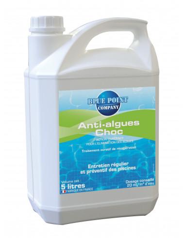 Hydrapro anti algues choc liquide 5l hyper brico for Anti algues piscine