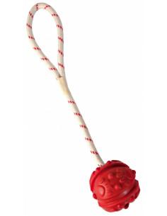 TRIXIE Balle sur corde caoutchouc naturel, flottante d4,5 cm - 35 cm