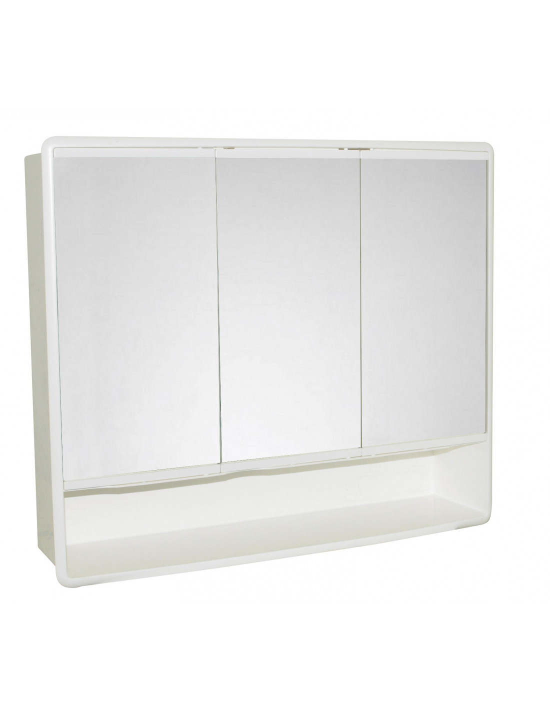 galedo armoire de toilette 3 portes plastique blanc. Black Bedroom Furniture Sets. Home Design Ideas