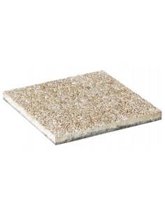STRADAL Dalle béton gravillonnée 40 x 40 cm Ep. 4 cm CREME Grains fins