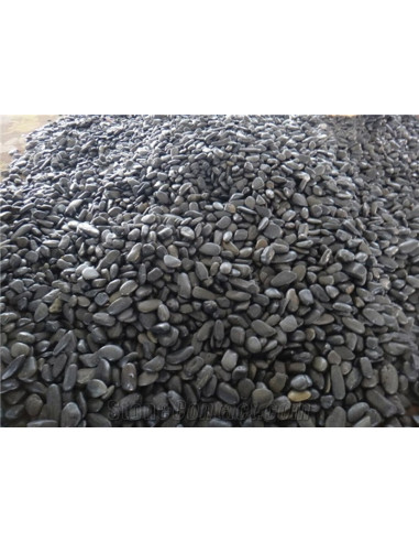 Pierres de rivière noires sac de 20 kg