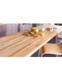 Plan travail en bois exotique 300 x 60 cm Ep. 26 mm