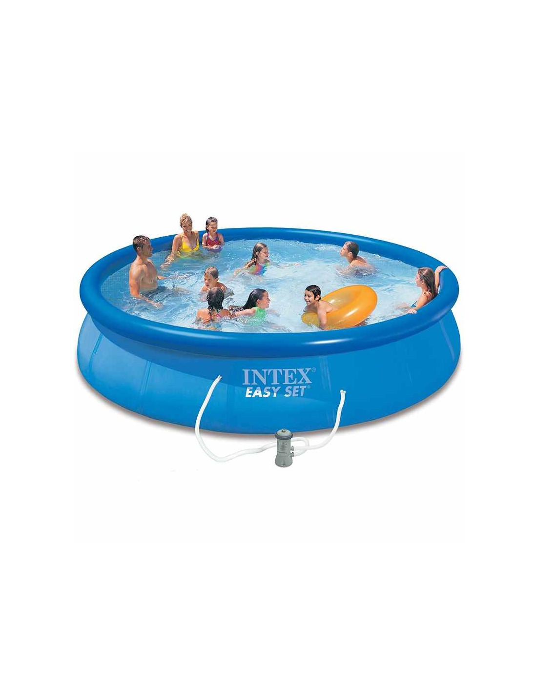 Intex piscine autoportante easy set 457 x 84 cm pompe for Pompe piscine intex