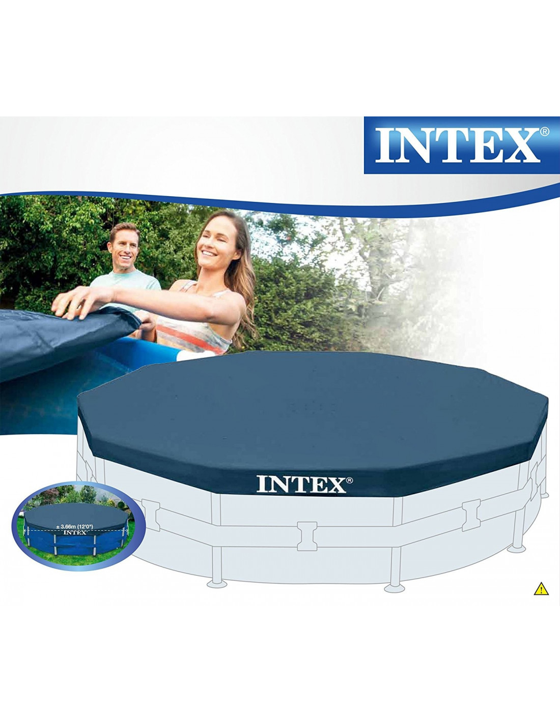 Bache de piscine intex intex b che pour piscine ronde for Bache piscine intex