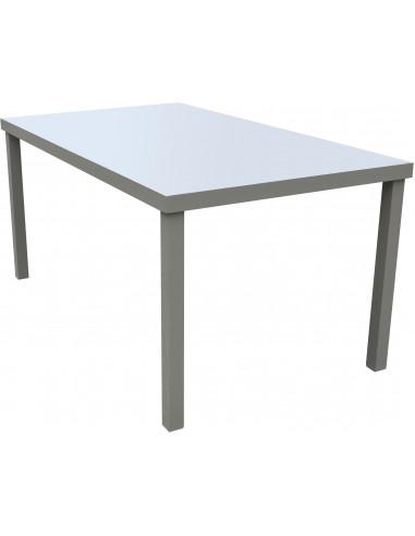 FORNORD Table de jardin alu/verre gris/noir L.160 x l.90 x H.75 cm ...