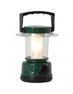 Lanterne camping plastique vert à piles