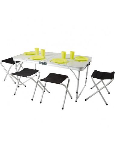 Table valise pique nique et 4 tabourets