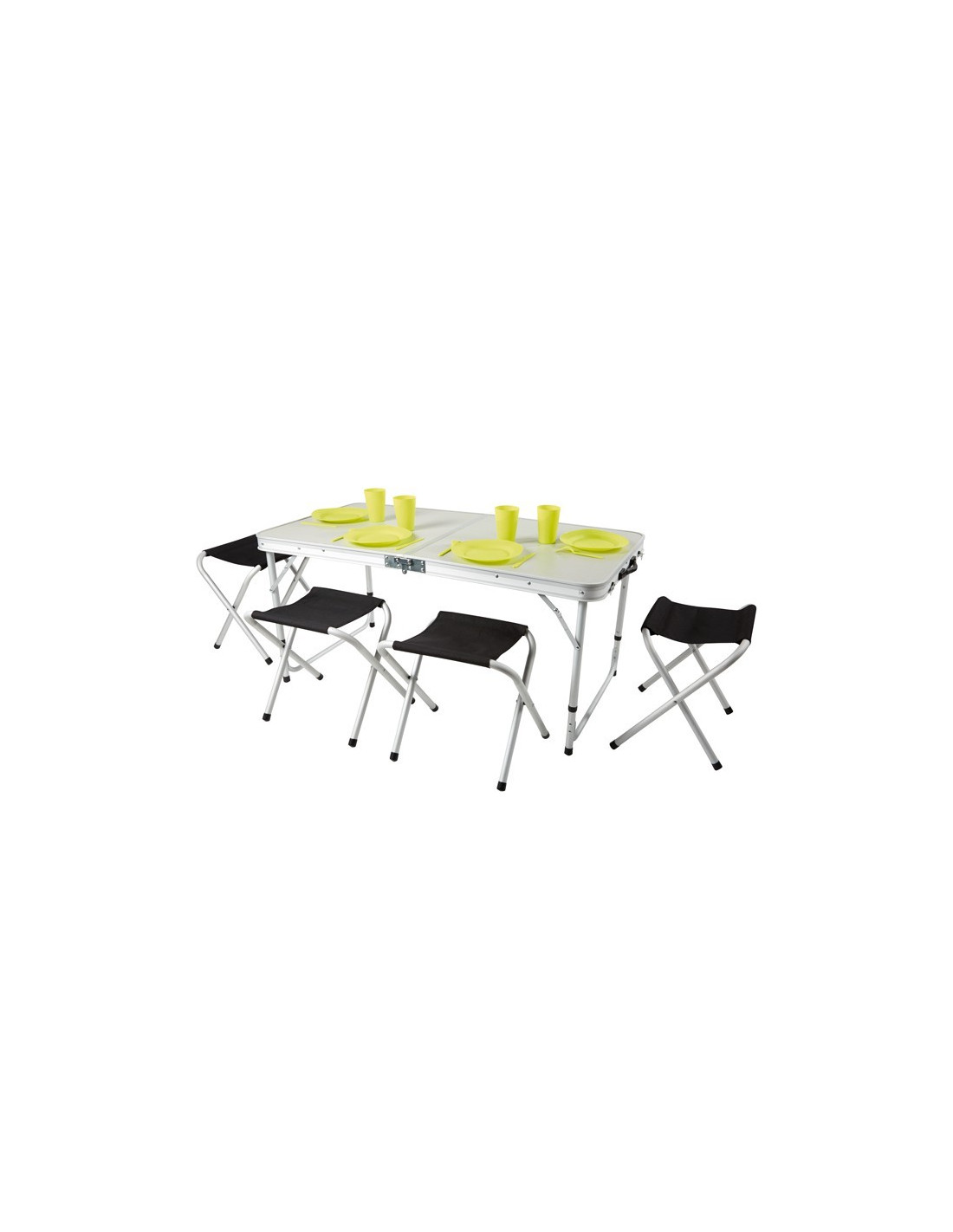 table valise pique nique et 4 tabourets hyper brico. Black Bedroom Furniture Sets. Home Design Ideas
