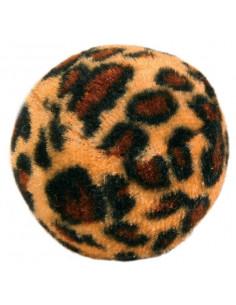 TRIXIE Set de 4 balles léopard, Plastique d4cm