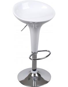 FORNORD Tabouret de bar blanc L.43 x l.39 x H.66/87 cm
