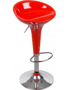 FORNORD Tabouret de bar rouge L.43 x l.39 x H.66/87 cm