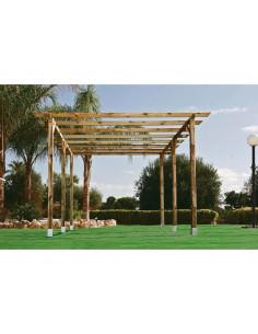 CATRAL Kit pergola 4 x 3,60 m poteaux 9 x 9 cm