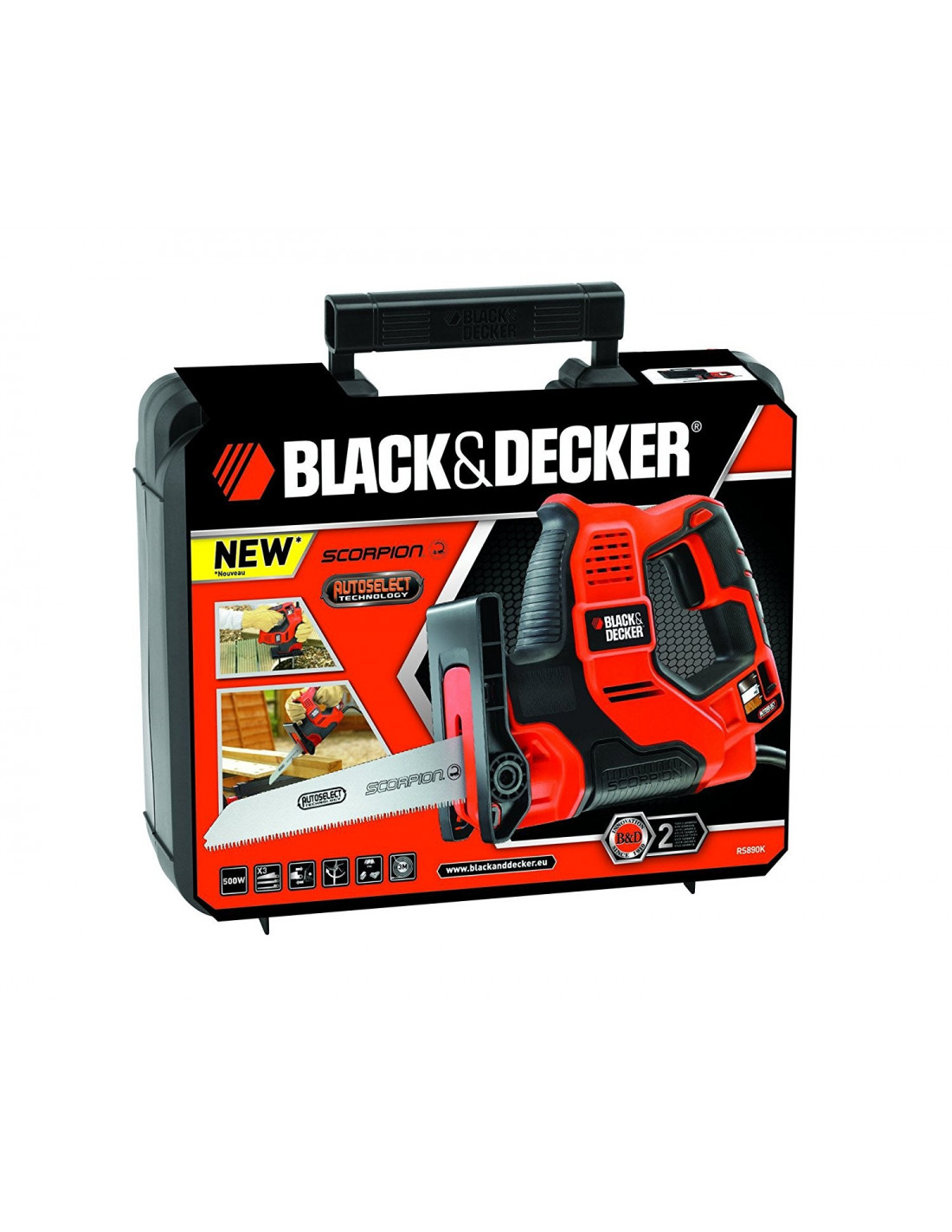 black decker rs890k scie main scorpion autoselect 500w hyper brico. Black Bedroom Furniture Sets. Home Design Ideas