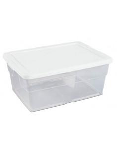 STERILITE Boîte de rangement blanc transparent 15L