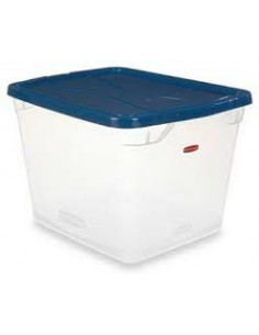 RUBBERMAID Bac 30qt transparent 28L