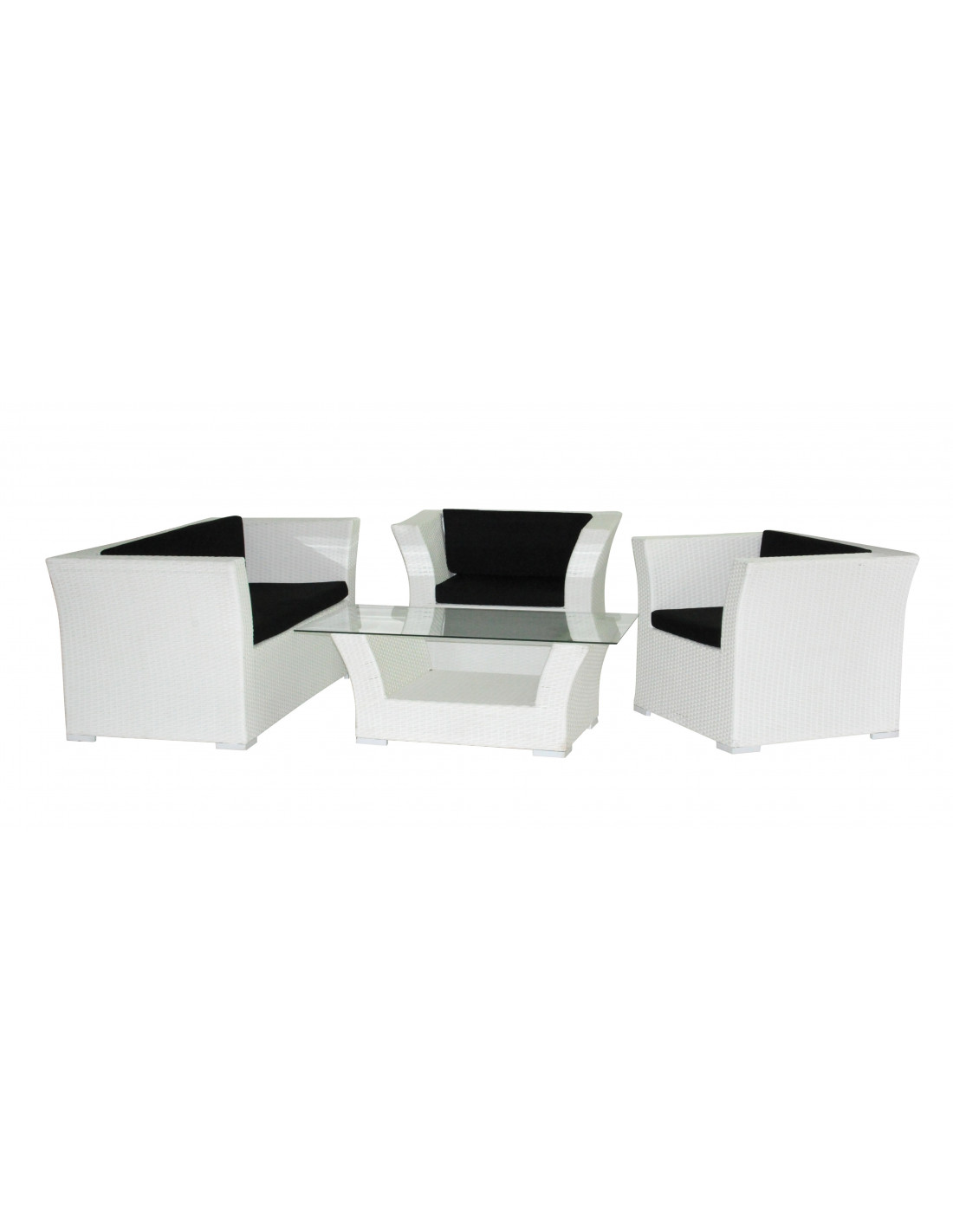 ensemble salon de jardin blanc hyper brico. Black Bedroom Furniture Sets. Home Design Ideas