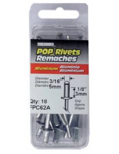 FPC CORPORATION Rivets d 5mm x 18pcs