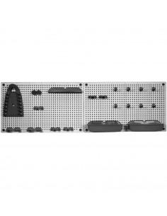 KIS TOOLS ORGANIZER X 2 Grille porte-outils Plastique Gris Cendré/Gris Anthracite 7 x 50 x 31 cm
