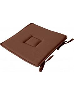 ENJOY HOME Galet de Chaise Coton Chocolat 40 x 40 cm