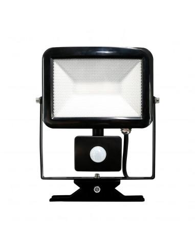 electraline projecteur slim led noir 20w avec d tecteur hyper brico. Black Bedroom Furniture Sets. Home Design Ideas