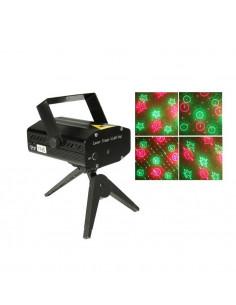 FORNORD Lampe disco avec projecteur laser jeux de lumières 6en1