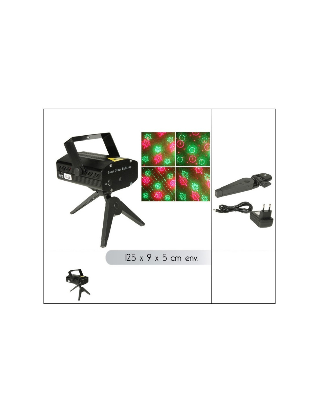 fomax lampe disco avec projecteur laser jeux de lumi res 6en1 hyper brico. Black Bedroom Furniture Sets. Home Design Ideas