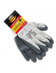 SUPERTITE Gant en nylon recouverts de nitrile L 10