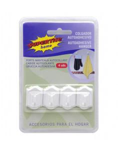 SUPERTITE Crochet suspendre adhésive blanche 4 unités