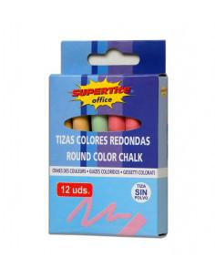 SUPERTITE Craies rondes couleurs 12 unités