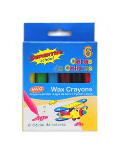 SUPERTITE Crayon de cire max 6 unités