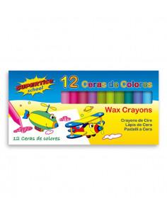 SUPERTITE Crayons de cire max 12 unités