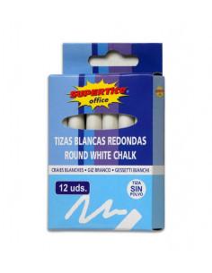 SUPERTITE Craies rondes blanches 12 unités