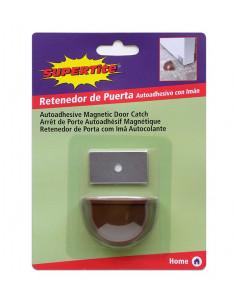 SUPERTITE Arrêt porte auto adhésive magnétique marron