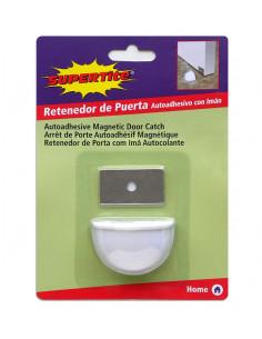 SUPERTITE Arrêt porte auto adhésive magnétique blanche