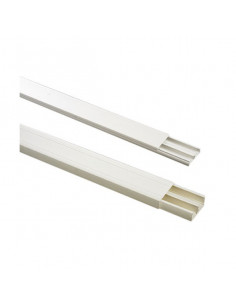 ELECTRALINE Moulure blanche 20x10mm 2m