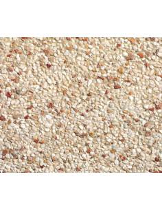 STRADAL Dalle béton gravillonnée 40 x 40 cm Ep. 4 cm ATLAS Rouge Blanc